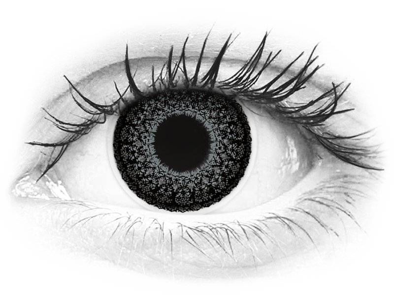 ColourVUE Eyelush Grey - z dioptrijo (2 leči)