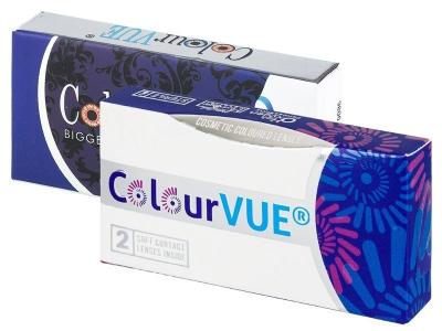 ColourVUE BigEyes Dolly Black - z dioptrijo (2 leči)