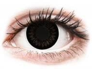 Črne kontaktne leče - brez dioptrije - ColourVUE BigEyes Dolly Black - brez dioptrije (2 leči)