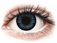 Barvne kontaktne leče - ColourVUE BigEyes Cool Blue - brez dioptrije (2 leči)