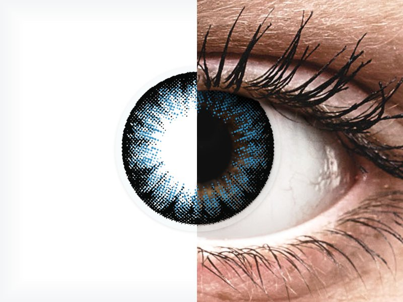 ColourVUE BigEyes Cool Blue - brez dioptrije (2 leči) - ColourVUE BigEyes Cool Blue - brez dioptrije (2 leči)