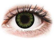 Barvne kontaktne leče - ColourVUE BigEyes Party Green - brez dioptrije (2 leči)