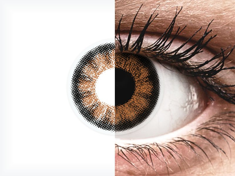 ColourVUE BigEyes Sexy Brown - z dioptrijo (2 leči)