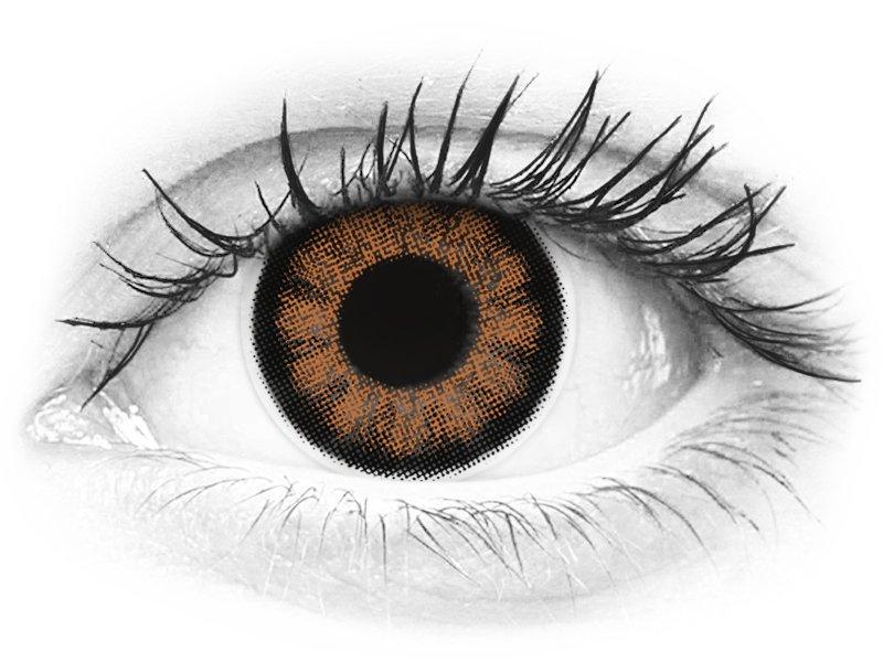 ColourVUE BigEyes Sexy Brown - z dioptrijo (2 leči) - ColourVUE BigEyes Sexy Brown - z dioptrijo (2 leči)