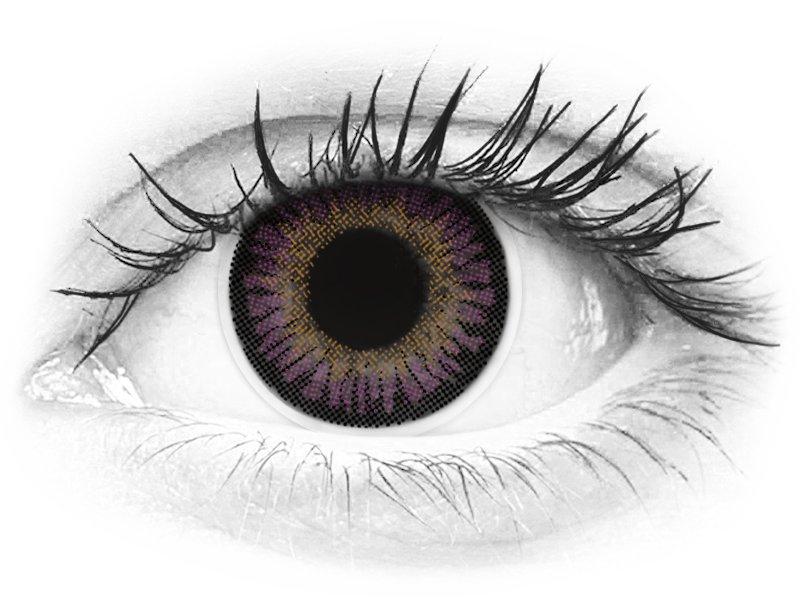 ColourVUE 3 Tones Violet - brez dioptrije (2 leči) - ColourVUE 3 Tones Violet - brez dioptrije (2 leči)