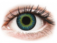 Barvne kontaktne leče z dioptrijo - ColourVUE Fusion Yellow Blue - z dioptrijo (2 leči)