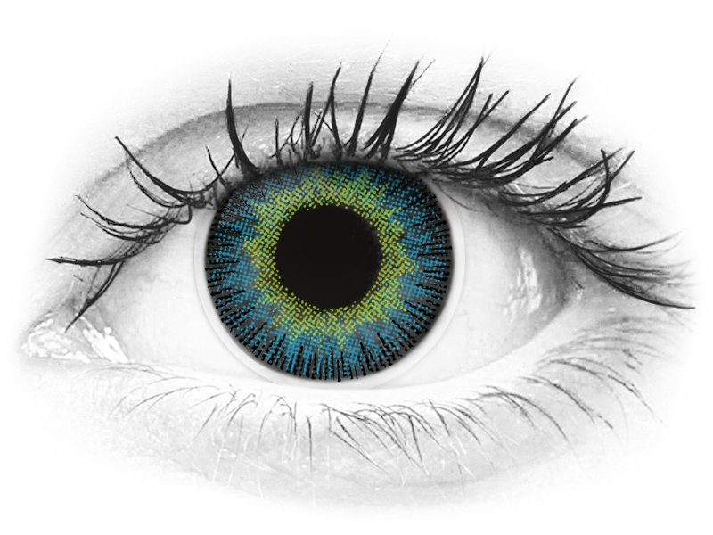 ColourVUE Fusion Yellow Blue - z dioptrijo (2 leči) - ColourVUE Fusion Yellow Blue - z dioptrijo (2 leči)