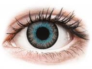 Barvne kontaktne leče z dioptrijo - ColourVUE Fusion Blue Gray - z dioptrijo (2 leči)