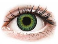 Rumene kontaktne leče - brez dioptrije - ColourVUE Fusion Green Yellow - brez dioptrije (2 leči)
