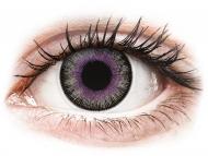Vijolične kontaktne leče - brez dioptrije - ColourVUE Fusion Violet Gray - brez dioptrije (2 leči)