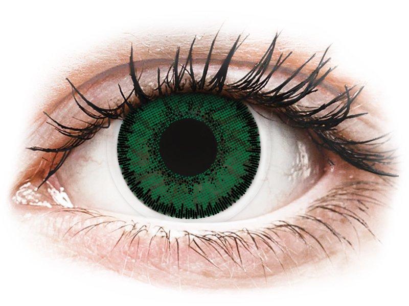 SofLens Natural Colors Aquamarine - z dioptrijo (2 leči) - Barvne kontaktne leče