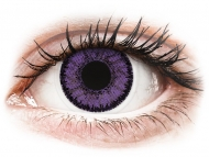Vijolične kontaktne leče - brez dioptrije - SofLens Natural Colors Indigo - brez dioptrije (2 leči)