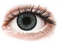 Sive kontaktne leče - z dioptrijo - SofLens Natural Colors Platinum - z dioptrijo (2 leči)