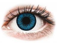 Modre kontaktne leče - brez dioptrije - SofLens Natural Colors Topaz - brez dioptrije (2 leči)