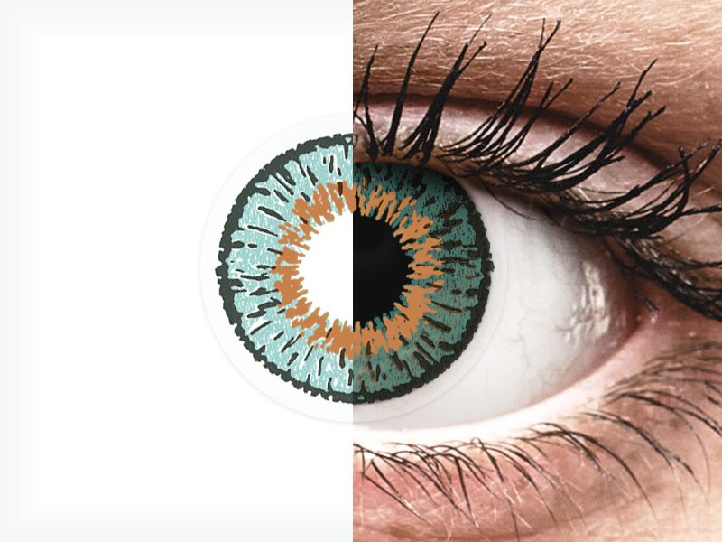 Expressions Colors Aqua - brez dioptrije (1 leča)