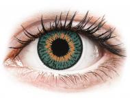 Barvne kontaktne leče z dioptrijo - Expressions Colors Aqua - z dioptrijo (1 leča)