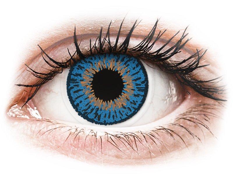 Expressions Colors Dark Blue - z dioptrijo (1 leča) - Barvne kontaktne leče
