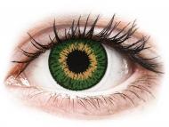 Oranžne kontaktne leče - brez dioptrije - Expressions Colors Green - brez dioptrije (1 leča)