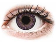 Barvne kontaktne leče z dioptrijo - FreshLook ColorBlends Amethyst - z dioptrijo (2 leči)