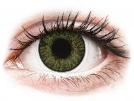 Barvne kontaktne leče z dioptrijo - FreshLook ColorBlends Green - z dioptrijo (2 leči)