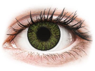 FreshLook ColorBlends Green - z dioptrijo (2 leči)