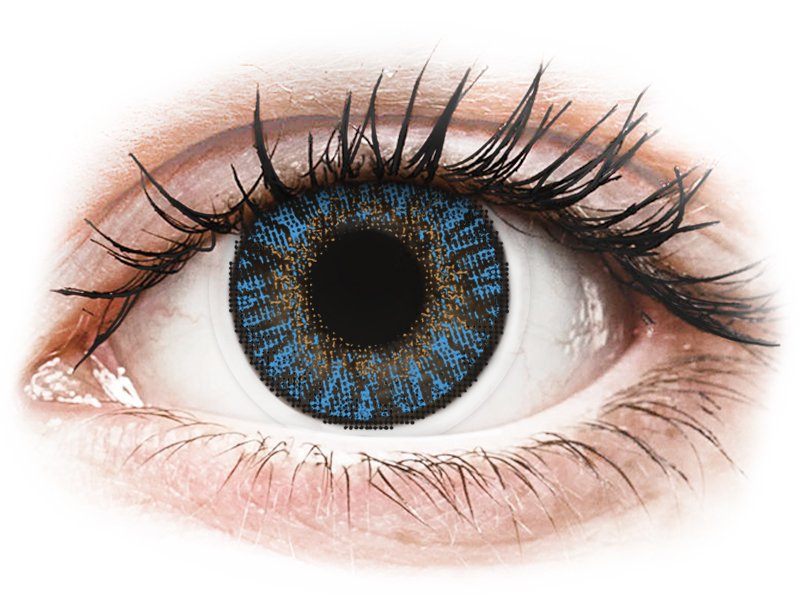FreshLook ColorBlends True Sapphire - z dioptrijo (2 leči) - Barvne kontaktne leče