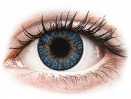Modre kontaktne leče - brez dioptrije - FreshLook ColorBlends True Sapphire - brez dioptrije (2 leči)