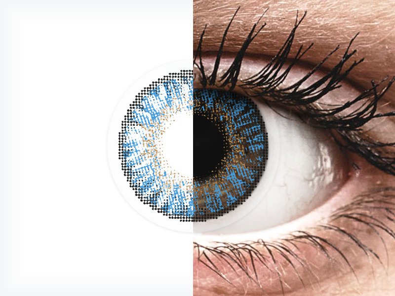FreshLook ColorBlends True Sapphire - brez dioptrije (2 leči)