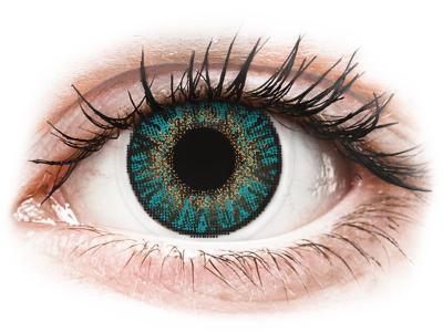 FreshLook ColorBlends Turquoise - z dioptrijo (2 leči) - Barvne kontaktne leče