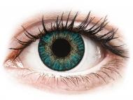 Modre kontaktne leče - brez dioptrije - FreshLook ColorBlends Turquoise - brez dioptrije (2 leči)