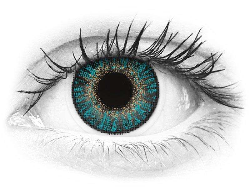 FreshLook ColorBlends Turquoise - brez dioptrije (2 leči)