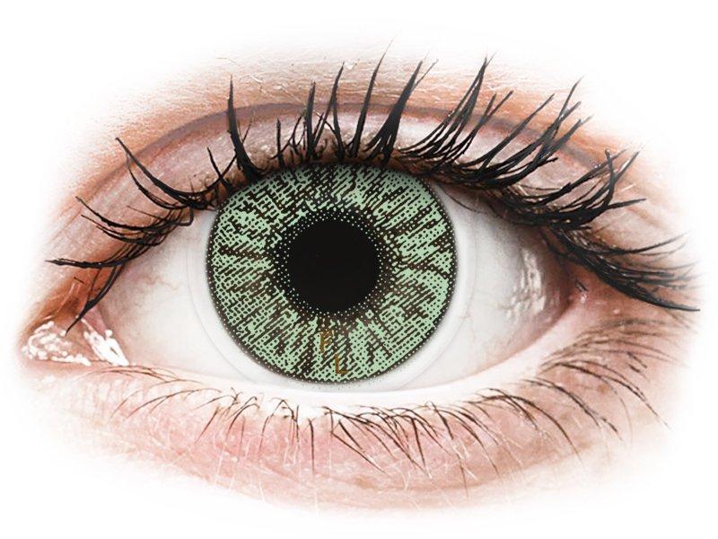 FreshLook Colors Green  - brez dioptrije (2 leči) - Barvne kontaktne leče