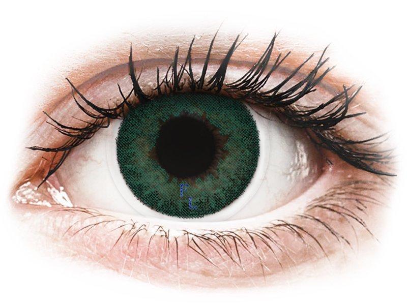 FreshLook Dimensions Carribean Aqua - z dioptrijo (6 leč) - Barvne kontaktne leče