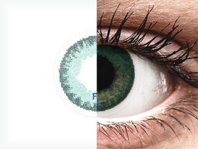 FreshLook Dimensions Carribean Aqua - brez dioptrije (2 leči)