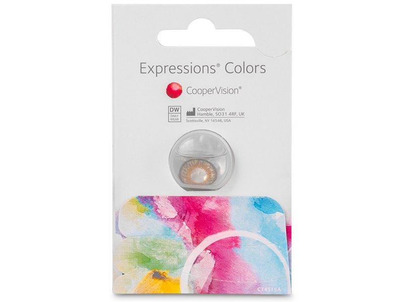 Expressions Colors Brown - z dioptrijo (1 leča)