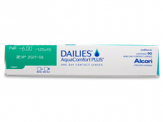 Dailies AquaComfort Plus Toric (90leč) - Predogled lastnosti
