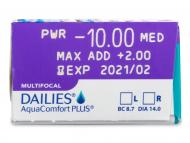Dailies AquaComfort Plus Multifocal (30leč) - Predogled lastnosti