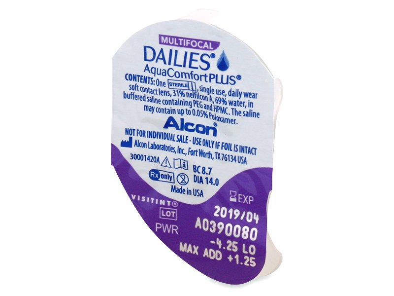 Dailies AquaComfort Plus Multifocal (30leč) - Predogled blister embalaže