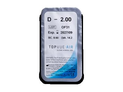 TopVue Air (6 leč)  - Predogled blister embalaže