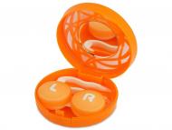 Dodatki - Škatlica z ogledalom - oranžna ornament