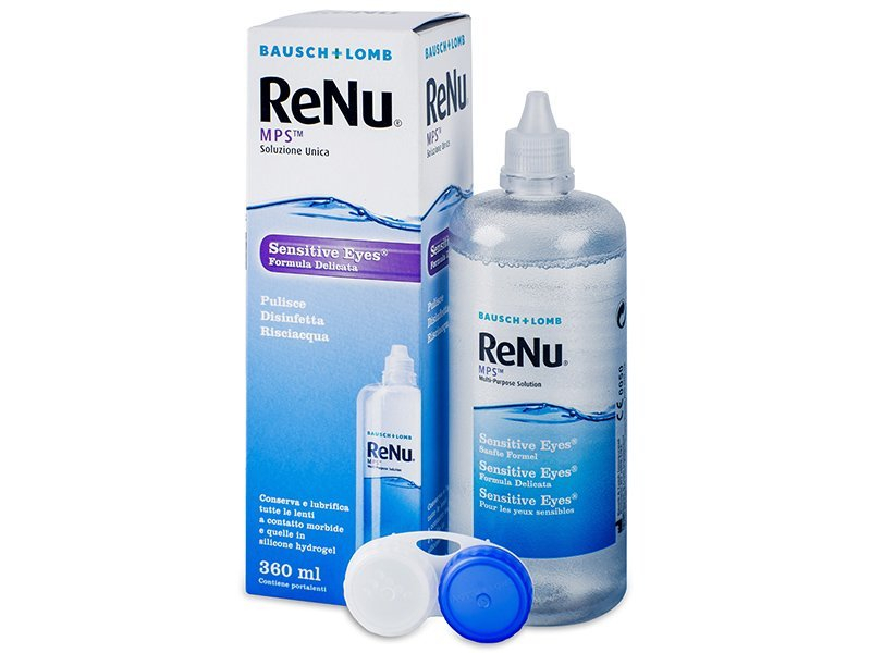 Tekočina ReNu MPS Sensitive Eyes  - Tekočina za čiščenje
