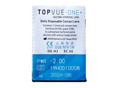 TopVue One+ (90 leč) - Predogled blister embalaže