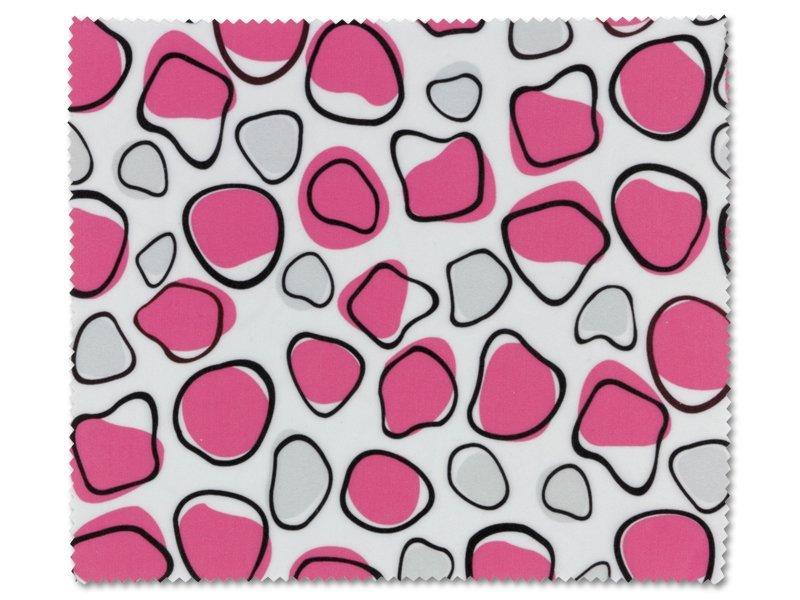 Čistilna krpica za očala - Belo roza