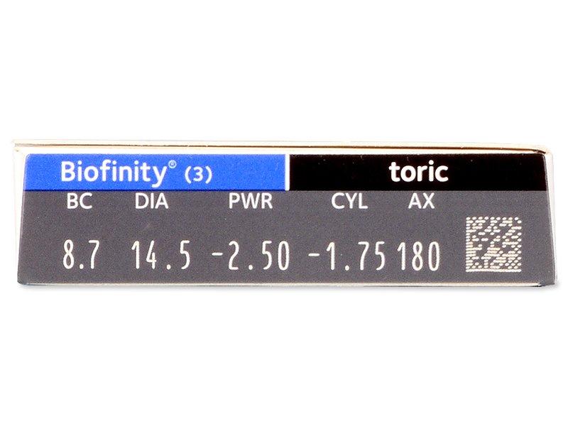 Predogled lastnosti - Biofinity Toric (3 leče)