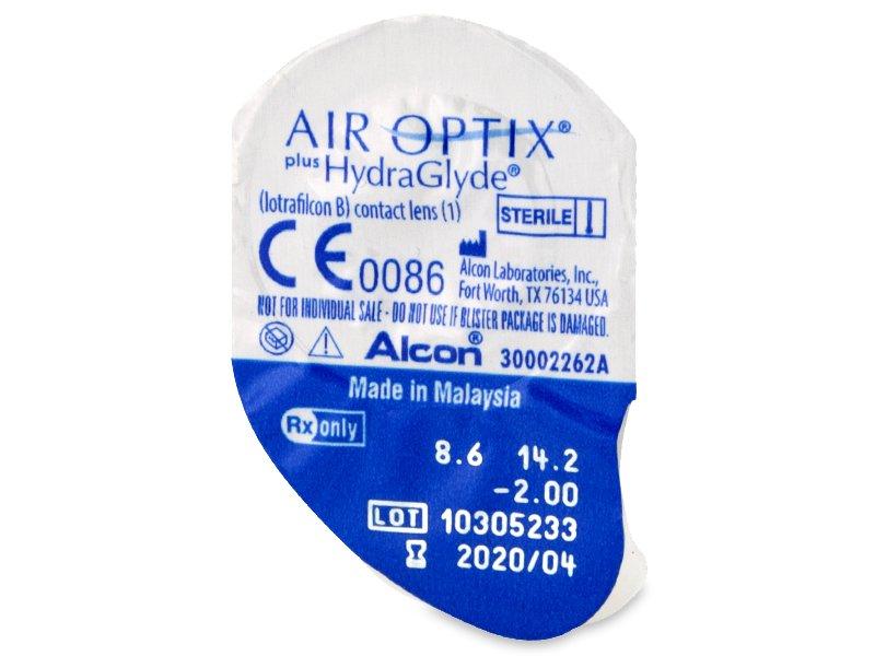 Air Optix plus HydraGlyde (6 leč) - Predogled blister embalaže