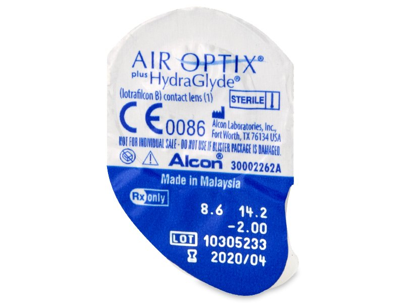 Air Optix plus HydraGlyde (3 leče) - Predogled blister embalaže