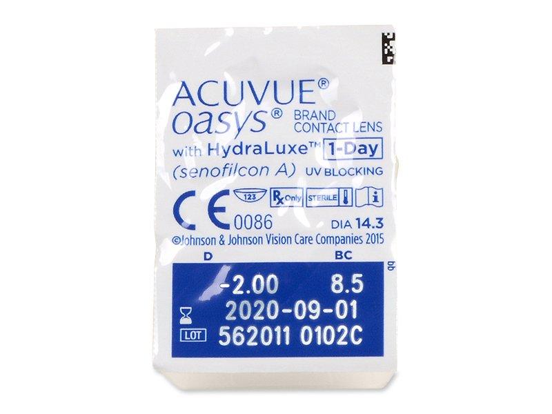 Acuvue Oasys 1-Day (90 leč) - Predogled blister embalaže