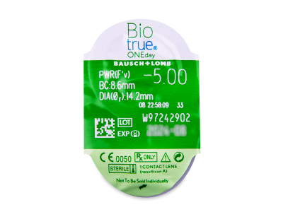 Biotrue ONEday (90leč) - Predogled blister embalaže