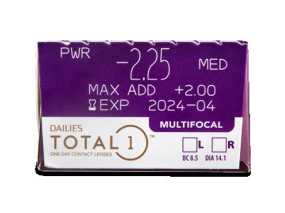 Dailies TOTAL1 Multifocal (30 leč) - Predogled lastnosti