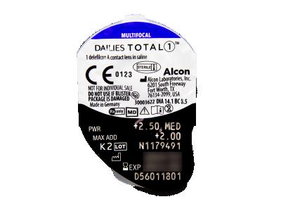 Dailies TOTAL1 Multifocal (30 leč) - Predogled blister embalaže